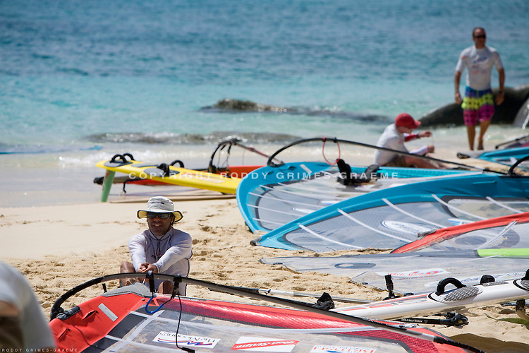 The Highland Springs HIHO 2009 windsurfing regatta in the BVIs is a week long race between the islands. Racing, partying, great food and amazing sights make this a unique event.