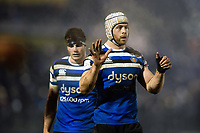 Dave Attwood of Bath Rugby. Premiership Rugby Cup match, between Bath Rugby and Gloucester Rugby on February 3, 2019 at the Recreation Ground in Bath, England. Photo by: Patrick Khachfe / Onside Images