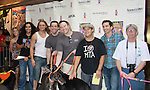 """Hair - Steel Burhardt, Matt DeAngelis, Josh Lamon, Paris Remillard, Kacie Sheik attend Broadway Barks Lucky 13th Annual Adopt-a-thon - A """"Pawpular"""" Star-studded dog and cat adopt-a-thon on July 9, 2011 in Shubert Alley, New York City, New York with Bernadette Peters and Mary Tyler Moore as hosts.  (Photo by Sue Coflin/Max Photos)"""