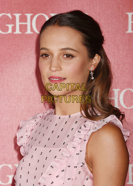 PALM SPRINGS, CA - JANUARY 02: Actress Alicia Vikander attends the 27th Annual Palm Springs International Film Festival Awards Gala at Palm Springs Convention Center on January 2, 2016 in Palm Springs, California.<br /> CAP/ROT/TM<br /> &copy;TM/ROT/Capital Pictures