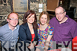 29 PLUS 1: Annmarie Donegan, Abbeydorney, celebrating her 30th birthday in Finnegans restaurant, Denny Street, Tralee last Saturday night pictured here l-r: Brendan, Annmarie, Ann and David Donegan.
