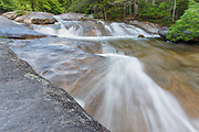 Franconia Falls along Franconia Brook in Lincoln, New Hampshire USA.