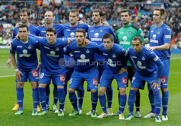 Getafe's team photo during La Liga match. January 27, 2013. (ALTERPHOTOS/Alvaro Hernandez) NortePhoto /MediaPunch Inc. ***FOR USA ONLY***