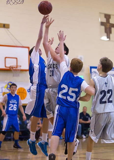 St. Nicholas vs. St. Simon Travel at St. Simon gym, 8th Annual Father Murray Memorial Tournament, January 28, 2012..