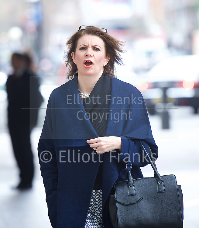 Sunday Politics arrivals <br /> BBC, Broadcasting House, London, Great Britain <br /> 12th March 2017 <br /> <br /> <br /> Julia Hartley-Brewer<br /> arriving for Sunday Politics <br /> <br /> Photograph by Elliott Franks <br /> Image licensed to Elliott Franks Photography Services