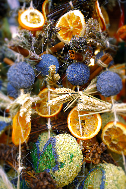 Traditional hand made Christmas decorations in Saltzburg market