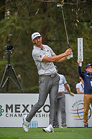 Dustin Johnson (USA) watches his tee shot on 16 during round 3 of the World Golf Championships, Mexico, Club De Golf Chapultepec, Mexico City, Mexico. 2/23/2019.<br /> Picture: Golffile | Ken Murray<br /> <br /> <br /> All photo usage must carry mandatory copyright credit (© Golffile | Ken Murray)
