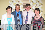 Mary, Dan O'Sullivan, Kieran O'Shea and Hannah Moynihan Beaufort at the Mid Kerry Mart 50th anniversary social in the Malton Hotel Killarney on Friday night
