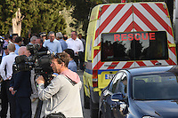 "Pictured: The gathered media by the field in Kos, Greece. Monday 26 September 2016<br /> Re: Police teams searching for missing toddler Ben Needham on the Greek island of Kos have said they are ""optimistic"" about new excavation work.<br /> Ben, from Sheffield, was 21 months old when he disappeared on 24 July 1991 during a family holiday.<br /> Digging has begun at a new site after a fresh line of inquiry suggested he could have been crushed by a digger.<br /> South Yorkshire Police (SYP) said it continued to keep an ""open mind"" about what happened to Ben."