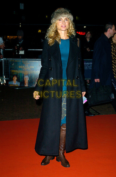 "MARYAM D'ABO.""The Darjeeling Limited""  BFI London Film Festival closing gala, Odeon Leicester Square, London, England..November 1st, 2007.LFF full length black coat fur hat brown boots .CAP/CAN.©Can Nguyen/Capital Pictures"