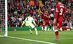 Emre Can of Liverpool scores his second goal during the Champions League playoff round at the Anfield Stadium, Liverpool. Picture date 23rd August 2017. Picture credit should read: Lynne Cameron/Sportimage