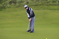 Darragh Behan (Naas) on the 17th green during Round 2 of the Ulster Boys Championship at Portrush Golf Club, Portrush, Co. Antrim on the Valley course on Wednesday 31st Oct 2018.<br /> Picture:  Thos Caffrey / www.golffile.ie<br /> <br /> All photo usage must carry mandatory copyright credit (&copy; Golffile | Thos Caffrey)