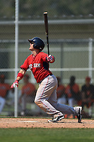 Boston Red Sox Michael Chavis (3) during a minor league spring training game against the Baltimore Orioles on March 20, 2015 at Buck O'Neil Complex in Sarasota, Florida.  (Mike Janes/Four Seam Images)