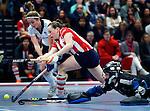 SCHIEDAM - NK reserveteams zaalhockey. Finale Tilburg D2-HDM D2 (1-3) . Katie Froeling van HDM scoort.   COPYRIGHT KOEN SUYK