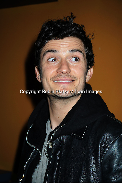 """actor Orlando Bloom attending the """"Sympathy For Delicious"""" special screening.on April 25, 2011 at The Sunshine Landmark Theatre in New York City. The movie stars Mark Ruffalo, Orlando Bloom, Laura Linney and Christopher Thornton."""