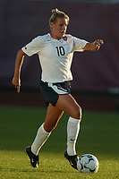 Aly Wagner scored in the 64th minute as the USWNT defeated Russia 5-1 on  September 29, at Mitchel Athletic Complex, Uniondale, NY.