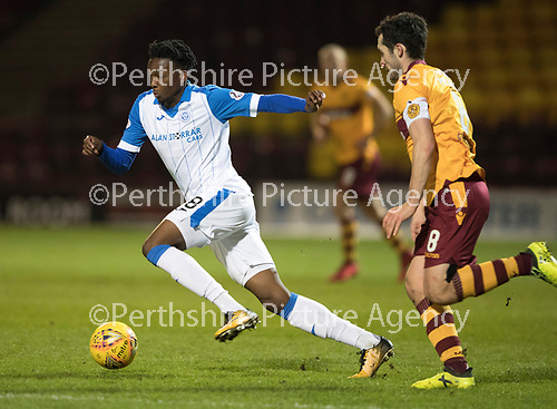 Motherwell v St Johnstone&hellip;06.02.18&hellip;  Fir Park&hellip;  SPFL<br />Matty Willock and Carl McHugh<br />Picture by Graeme Hart. <br />Copyright Perthshire Picture Agency<br />Tel: 01738 623350  Mobile: 07990 594431