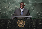 His Excellency Macky Sall, President of the Republic of Senegal  <br /> <br /> <br /> 6th plenary meeting High-level plenary meeting of the General Assembly (3rd meeting)
