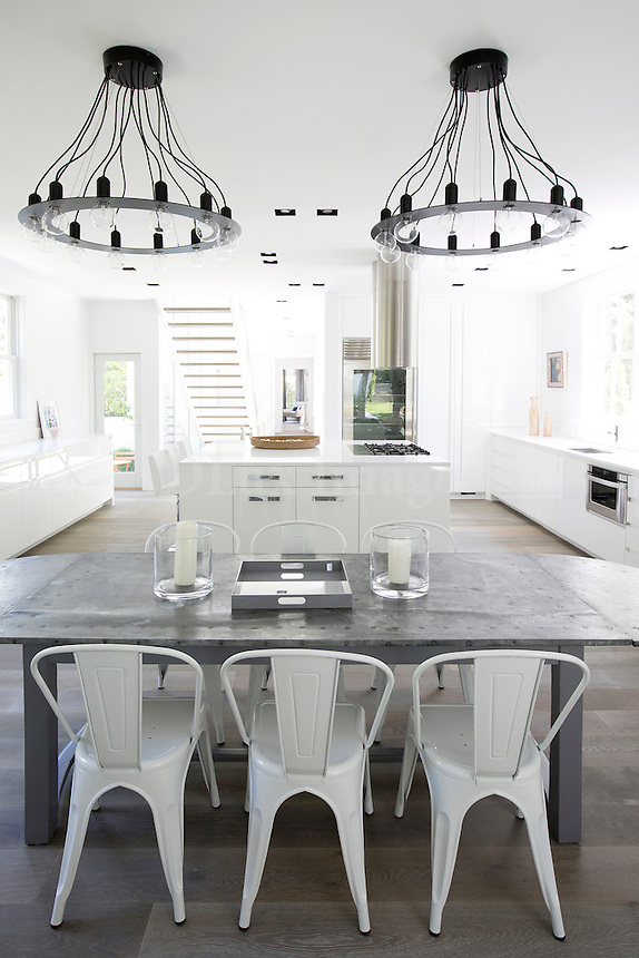 Modern gray dining table
