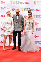 Kirsty Leigh Porter, Kieron Richardson and Stephanie Davis<br /> arriving for the BAFTA TV Awards 2019 at the Royal Festival Hall, London<br /> <br /> ©Ash Knotek  D3501  12/05/2019
