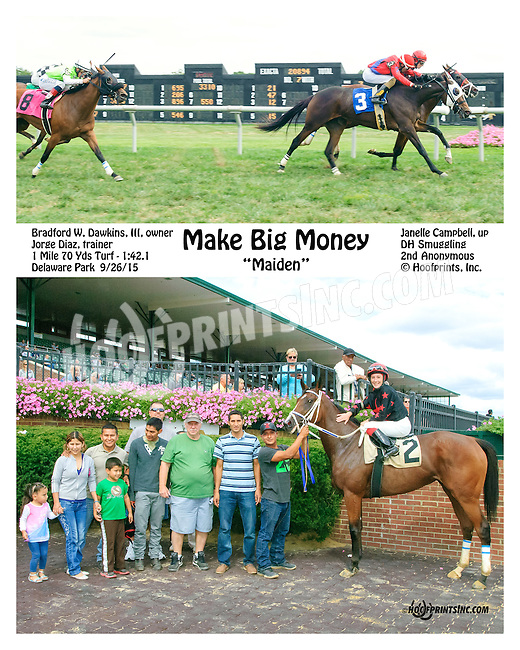 Make Big Money winning at Delaware Park on 9/26/15