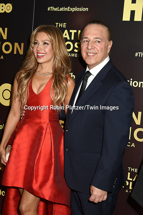 Thalia and husband Tommy Mottola attend the HBO premiere of &quot;The Latin Explosion: A New America&quot; on November 10, 2015 at the Hudson Theater in New York City, New York, USA.<br /> <br /> photo by Robin Platzer/Twin Images<br />  <br /> phone number 212-935-0770