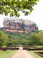 Sigiriya Rock, an ancient rock fortress and Unesco World Heritage Site, Sri Lanka