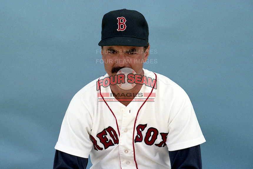 Boston Red Sox Dwight Evans poses for a photo during spring training circa 1989 at Chain of Lakes Park in Winter Haven, Florida.  (MJA/Four Seam Images)