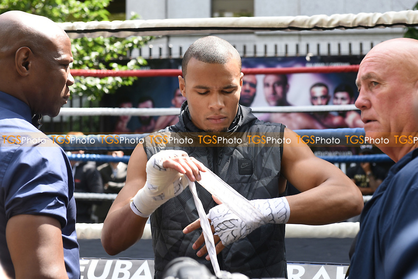 Chris Eubank Jnr during a Public Work Out at ITV Head Office on 12th July 2017