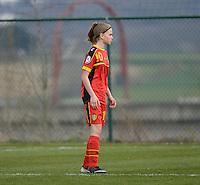 Women U15 : Belgian Red Flames - Nederland :<br /> <br /> Yenthe Kerckhofs<br /> <br /> foto Dirk Vuylsteke / Nikonpro.be