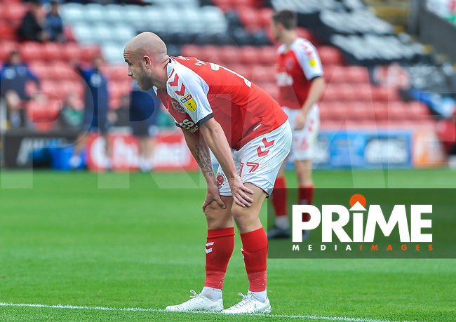 Fleetwood Town's forward Patrick Madden (17) during the Sky Bet League 1 match between Fleetwood Town and AFC Wimbledon at Highbury Stadium, Fleetwood, England on 10 August 2019. Photo by Stephen Buckley / PRiME Media Images.