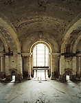 Michigan Central Station, once the city's primary passenger depot, Central Station has not been used since 1988. Detroit, Michigan, March 21, 2008