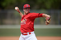 St. Louis Cardinals pitcher Will Latcham (15) during a Minor League Spring Training game against the Miami Marlins on March 26, 2018 at the Roger Dean Stadium Complex in Jupiter, Florida.  (Mike Janes/Four Seam Images)
