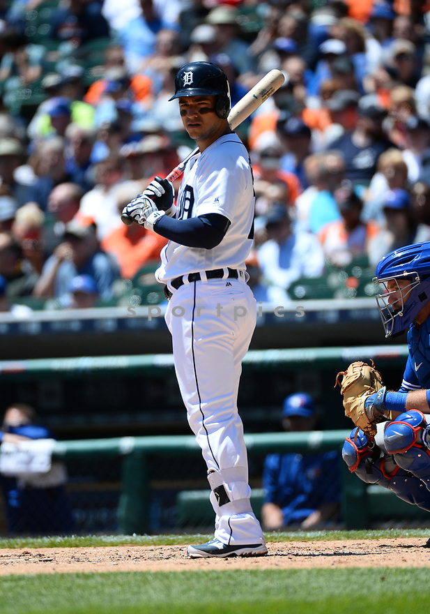 Detroit Tigers Jose Iglesias (1) during a game against the Toronto Blue Jays on June 8, 2016 at Comerica Park in Detroit MI. The Blue Jays beat the Tigers 7-2.