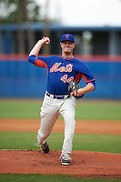 GCL Mets pitcher Josh Prevost (44) delivers a pitch during the second game of a doubleheader against the GCL Marlins on July 24, 2015 at the St. Lucie Sports Complex in St. Lucie, Florida.  The game was suspended in the first inning due to rain.  (Mike Janes/Four Seam Images)