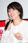 Minako (Kambara) Suematsu, senior managing director of Tsuneishi Holdings Corporation, Chairman of News2u Corporation speaks to the audience during the ''ELLE Women in Society'' event on July 13, 2015, Tokyo, Japan. The event promotes the working women's roll in Japanese society with various seminars where top businesswomen, musicians, writers and other international celebrities speak about the working women's roll in the world. By 2020 Prime Minister Shinzo Abe's administration aims to increase the percentage of women in leadership positions to 30% in Japan. (Photo by Rodrigo Reyes Marin/AFLO)