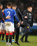 08.11.2019 League Cup Final, Rangers v Celtic: Steven Gerrard and James Tavernier at full time