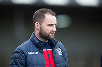 7th March 2020; Somerset Park, Ayr, South Ayrshire, Scotland; Scottish Championship Football, Ayr United versus Dundee FC; Dundee manager James McPake inspects the pitch before the match
