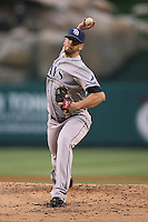 06/08/11 Anaheim, CA: Tampa Bay Rays starting pitcher James Shields #33 during an MLB game between the Tampa Bay Rays and The Los Angeles Angels  played at Angel Stadium. The Rays defeated the Angels 4-3 in 10 innings