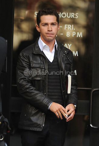 Shia LeBeouf on the set of Wall Street 2 in New York City. October 8, 2009. Credit: Dennis Van Tine/MediaPunch
