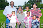 Abbeyfeale Fun Day : Pictured at the Fun Day in Abbeyfeale town park were Kayy & Zoe Shoubo, Chrisitina & Debbi Oluwadare, Benny Shuobo and Darren & Alicia Shoubo in front.