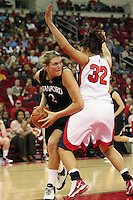 FRESNO, CA - DECEMBER 30:  Jayne Appel of the Stanford Cardinal during Stanford's 68-46 win over the Fresno State Bulldogs on December 30, 2009 in Fresno, California.