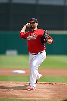 St. Louis Cardinals pitcher Lance Lynn (31) during a Spring Training game against the New York Mets on April 2, 2015 at Roger Dean Stadium in Jupiter, Florida.  The game ended in a 0-0 tie.  (Mike Janes/Four Seam Images)