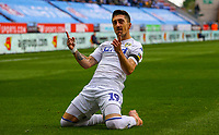 Leeds United's Pablo Hernandez celebrates scoring his side's equalising goal<br /> <br /> Photographer Alex Dodd/CameraSport<br /> <br /> The EFL Sky Bet Championship - Wigan Athletic v Leeds United - Sunday 4th November 2018 - DW Stadium - Wigan<br /> <br /> World Copyright &copy; 2018 CameraSport. All rights reserved. 43 Linden Ave. Countesthorpe. Leicester. England. LE8 5PG - Tel: +44 (0) 116 277 4147 - admin@camerasport.com - www.camerasport.com