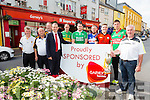 Launching the  Garveys SuperValu Hurling Championship were Gerry Trainer Abbeydorney Chairman, Eamon O'Shea Vice Chairman Kerry County Board, Aidan Healy Abbeydorney, Tim McCarthy Garveys, Michael Conway Lixnaw, Aidan Boyle Ballyduff, Don Delaney Ardfert, Philip Lucid Ballyheigue, Shane Nolan, Crotta and Ger McCarthy Hurling Officer Kerry County Board on Friday