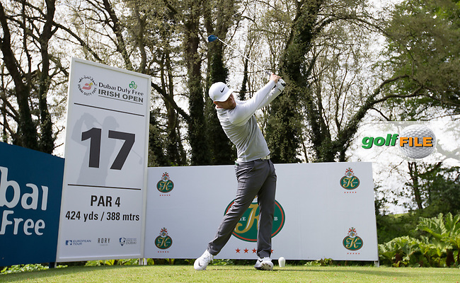Lucas Bjerregaard (DEN) during Tuesday's practice round ahead of the 2016 Dubai Duty Free Irish Open Hosted by The Rory Foundation which is played at the K Club Golf Resort, Straffan, Co. Kildare, Ireland. 17/05/2016. Picture Golffile | David Lloyd.<br /> <br /> All photo usage must display a mandatory copyright credit as: &copy; Golffile | David Lloyd.