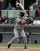 May 11, 2004:  Nate McLouth of the Altoona Curve, Double-A affiliate of the Pittsburgh Pirates, during a game at Jerry Uht Park in Erie, PA.  Photo by:  Mike Janes/Four Seam Images