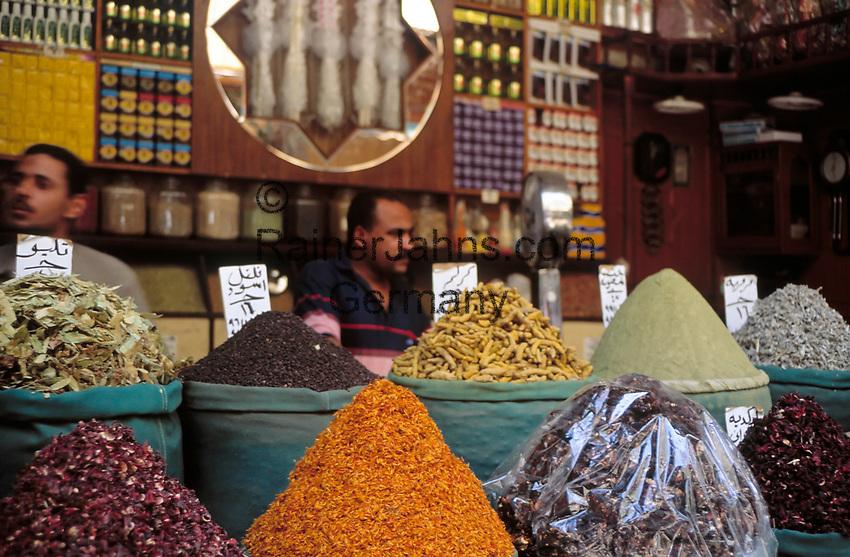 EGY, Aegypten, Kairo: Basar, Gewuerzhaendler | EGY, Egypt, Cairo, Bazaar, spice trader