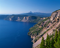 ORCL_038 - USA, Oregon, Crater Lake National Park, Expansive view from the east rim of Crater Lake north to distant Mount Thielsen – an extinct shield volcano.
