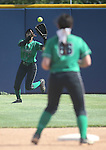 Rancho's Jahnae Davis Houston makes a play against Reed High during NIAA DI softball action at the University of Nevada, in Reno, Nev., on Thursday, May 19, 2016. Reed won 2-0. Cathleen Allison/Las Vegas Review-Journal